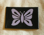 Leather butterfly silhouette ACEO