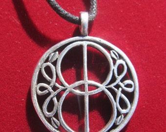 Vesica Piscis CHALICE WELL Pewter Pendant Glastonbury Mystic Magick Symbol