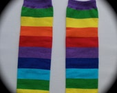 Rainbow Stripe Leg Warmers one size fits 5 months to pre teen