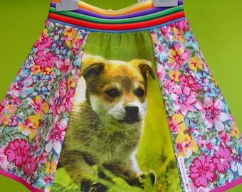kinchi Crazy puppy skirt, size 2T