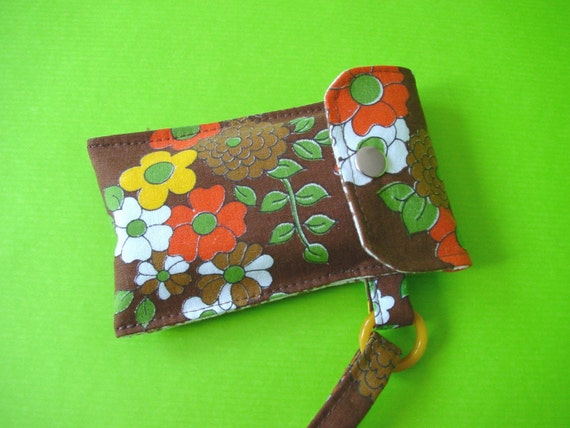 kinchi vintage fabric cell phone case