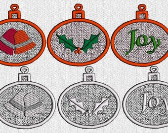 INSTANT DOWNLOAD Free Standing Lace Christmas Ornaments Machine Embroidery Designs