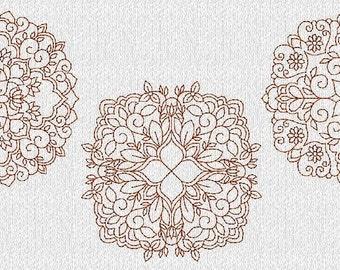 INSTANT DOWNLOAD Redwork Vintage Quilt Blocks Machine Embroidery Designs