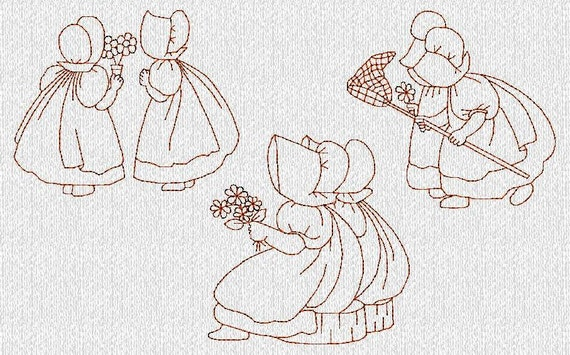 Sunbonnet Sue Machine Embroidery Designs