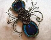 Pretty as  a Peacock- Barrette