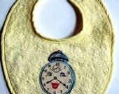 Vintage Graphic Clock Baby Bib