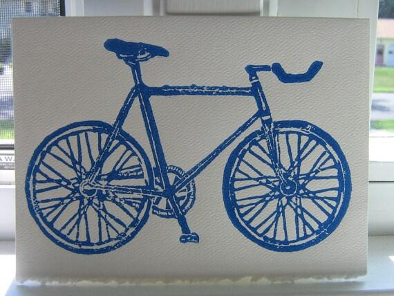 Bicycle block print card