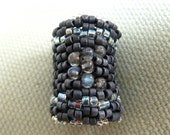 Labradorite Moon Beaded Bead