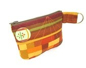 Marimekko Retro Squares Zipper Pouch Coin Purse with Pocket
