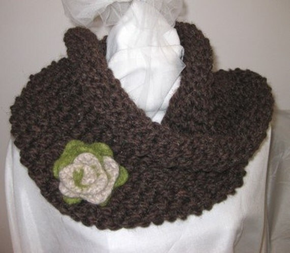 Simple Snood Knitting Pattern : Easy Knitting Pattern for Oversized Snood Cowl / Capelet
