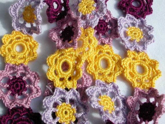 Purple & Yellow Flowers Scarf