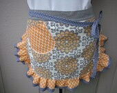 Amy Butler Aprons - Apricots and Wall flowers Apron By Amy Butler Fabrics - Annies Attic Aprons