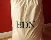 Large Cotton Laundry Bag - Embroidered Name, Initials or Word - MrsMcKenziesMonogram