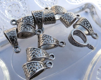 Silver Bails - Tibetan Silver - Nickel Free - Lead Free - Cadmium Free - Qty. 15