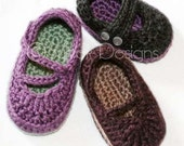 baby Mary Jane Trio (3 crochet patterns)