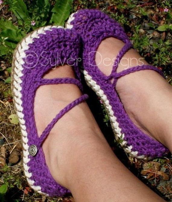 Crossover Strap Mary Janes (crochet pattern)