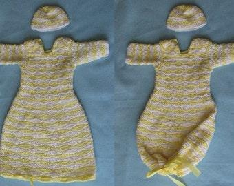 Crochet Pattern - Wave Pattern Infant Sweet Pea - Baby Pajama Pattern - Baby Cocoon Pattern - Sleep Bag or Sac Pattern - Digital Download