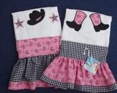 Boutique Cowgirl Burp Cloth Set