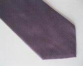 Mans Silk  Tie - Purple with Pattern