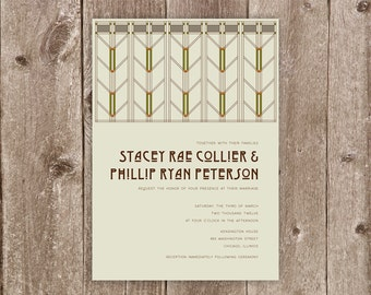 Arts & Crafts Wedding Invitation Collection