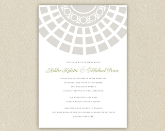 Wedding Invitations: Classic Architecture- San Francisco City Hall Wedding Collection