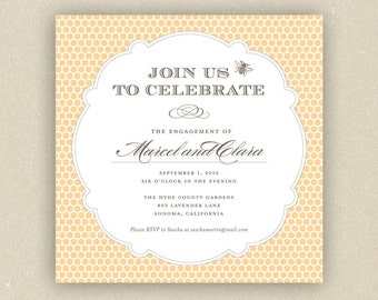 Engagement Bridal Shower or Birthday Party Invitation: Honey Bee