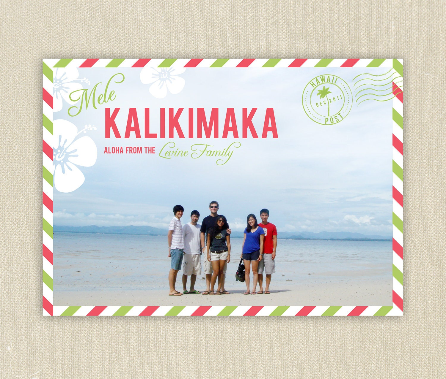 Hawaiian Christmas Cards Mele Kalikimaka - Фото база