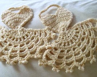 Heart Pinafore Dishcloth Crochet Pattern