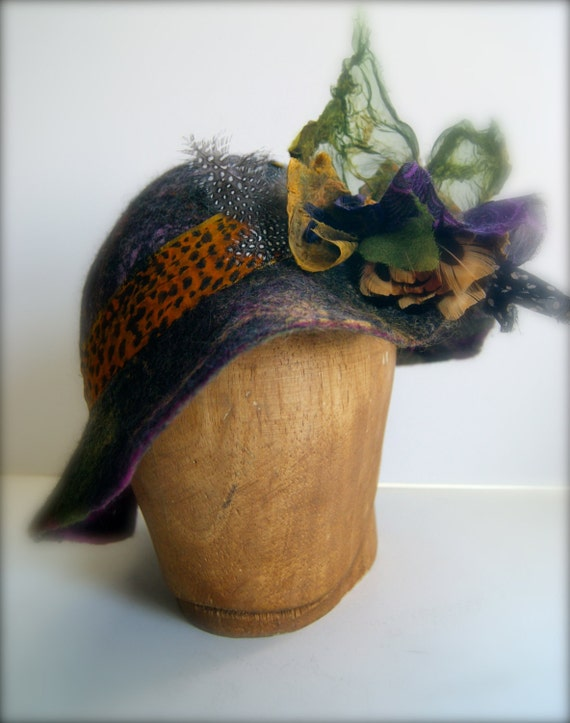 Felted Hat a SugarPlum Original by J. Gauger