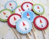 Gnome Cupcake Toppers T054 -- Set of 12