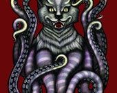 Tentacle Cat Demon Monster (print)
