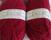 2 skeins of Plymouth Yarn Encore yarn destash