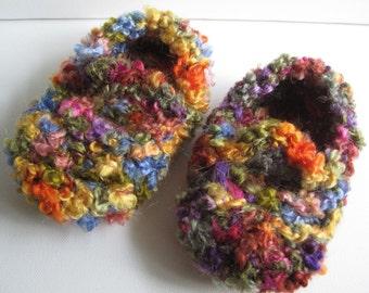 kid's crocheted maryjane slippers SALE