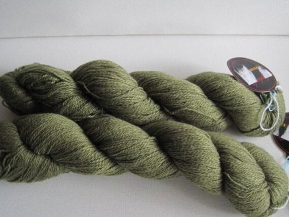 2 hanks of Jojoland silk and cashmere yarn destash