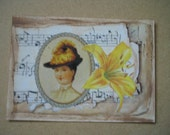 Original ACEO  Altered Art Collage Victorian - Lily
