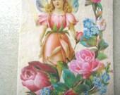 Original ACEO Altered Art, Collage- Rosebud Fairy