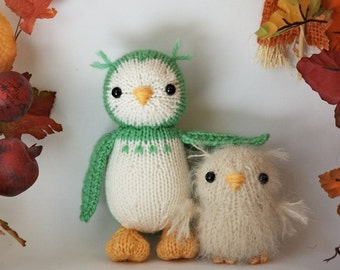 Owl and Baby knitting pattern