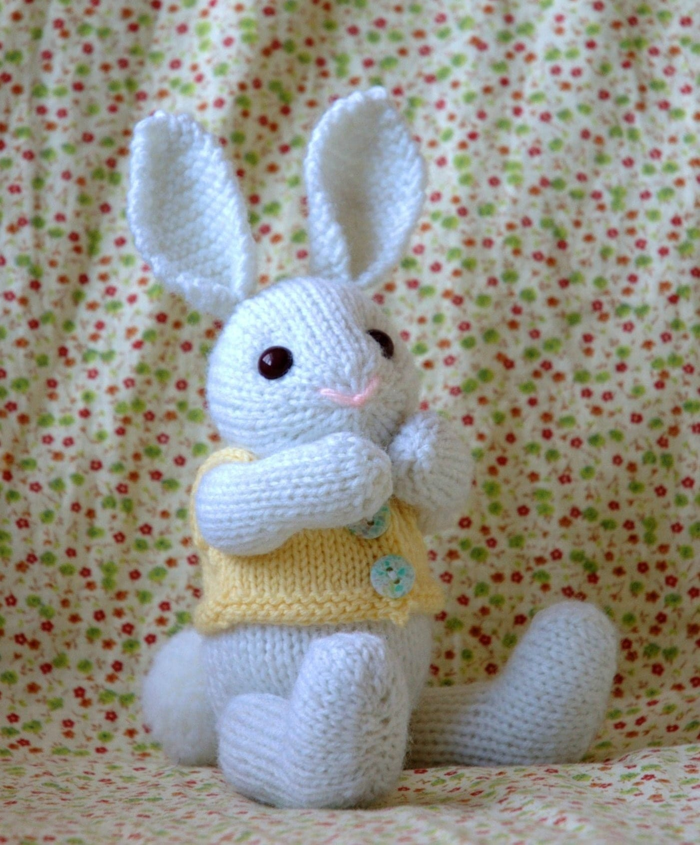 Easter Bunny Knitting Pattern : Knitting Pattern Easter Bunny PDF File by fuzzymitten on Etsy