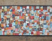 Wood Abstract Painting / A Poem for All Seasons Original Mixed Media