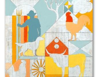 Geometric Art Print for Modern Farmhouse