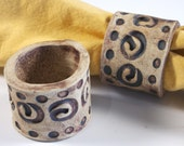 Set of 4 Earthy Napkin Rings