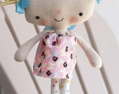 e pattern adorably cute kawaii style rag doll