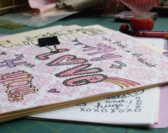 printable PDF DIY love letters art journal for the one you love on Wedding day