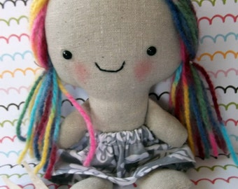 e pattern and picture tutorial for Rainbow Pocket Doll super cute and easy to sew