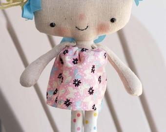 e pattern adorably cute kawaii style rag doll