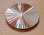 3 pcs. brass thick diamond cut disk - f1442