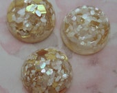 9 pcs. vintage resin glitter sparkle cabochons 19mm - R41