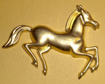 Large brass galloping horse stamping - f1126