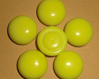 8 pcs. vintage glass yellow cabochons 16mm - f1150