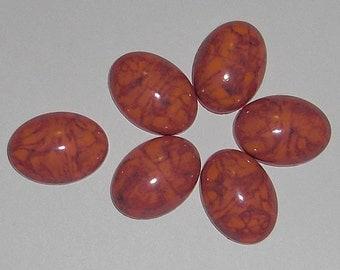 15 pcs. vintage coral matrix cabochons 18x13mm - f1783